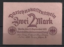 ALLEMAGNE .  2 MARK . 1922 . - [ 3] 1918-1933 : República De Weimar