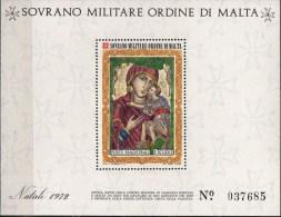 PIA - SMOM - 1972 : Natale - Nostra Signora Di Damasco - (UN Foglietto 5) - Malta (la Orden De)