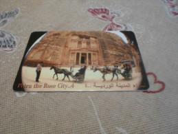 JORDAN - nice phonecard Petra with horses