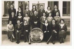 carte photo  classe   D'Izeaux  1932