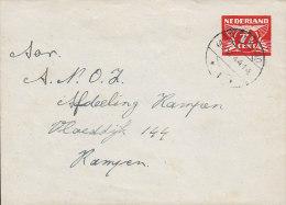 Netherlands Postal Stationery Ganzsache Entier 7½ C Taube Umschlag Cover DIRKSLAND 1944 To RAMPEN (2 Scans) - Postal Stationery