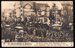 POLAND  ( MAZURY - MASUREN - BATTLE TANNENBERG ) SEPT. 1914 -- GERMAN KAISER ENTERS CITY OF LYCK  LUKS SEE 2 SCAN S.M. ! - Guerre 1914-18