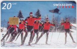 SWITZERLAND A-883 Chip Swisscom - Sport, Cross-country skiing - used