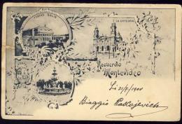 AK    URUGUAY    MONTEVIDEO  LITHO   1900 - Uruguay