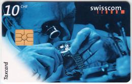 SWITZERLAND A-915 Chip Swisscom - Occupation, Watchmaker - used