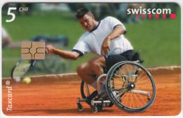 SWITZERLAND A-929 Chip Swisscom - Sport, Handicap, Tennis - used