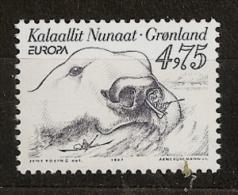 Groenland Danemark 1997 N° 288 ** Europa, Contes, Légendes, L´Ours De La Mer, Oumiak, Ours Blanc, Animal, Canoë, Kayak - Grönland