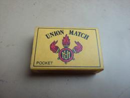 """Boîte D´allumettes ** BELGIQUE """"UNION MATCH POCKET"""" (35 Grosses Allumettes Rouges) Type 2 - Boites D'allumettes"""