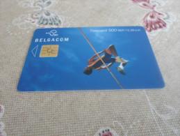 BELGIUM - nice phonecard high jumper