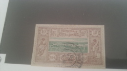 LOT 229002 TIMBRE DE COLONIE SOMALIS OBLITERE
