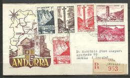 FRANCIA CARTA CIRCULADA CORREO CERTIFICADO CORREO FRANCES ( C.CARTAS. C.10.14) - Andorre Français