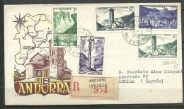 ANDORRA- CARTA CIRCULADA CORREO FRANCES, CORREO CERTIFICADO (C. CARTAS. C.10.14) - Andorre Français