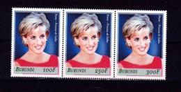 V] Tryptique Triptic ** Lady Di Diana Princess Princesse Famille Royale Royal Family - Burundi