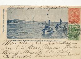 Flotilla Nacional Canonera G. Suarez Edicion J. Schmidt Circulada Montevideo 1904 Paquebot Aquitaine - Uruguay