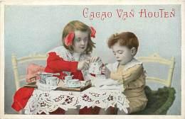 Themes Div-ref H851- Enfants - Cacao Van Houten  - Carte Bon Etat - - Publicité