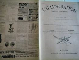 L�Illustration 5 AO�T 1899-  PECHE A LA SARDINE A DOUARNENEZ CONCARNEAU- FUNERAILLES DU TSAREVITCH