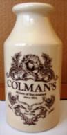 Pot De Moutarde Publicitaire Anglais Colmans 1814 Norwich - Andere Verzamelingen