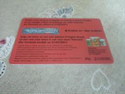 BELGIUM - nice phonecard price winning 50gr Pringles