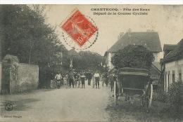 Chantecoq Fete Des Eaux Depart De La Course Cycliste CFM Branger - France