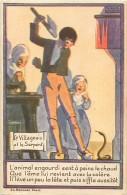 Themes Div-ref H794- Dessin Illustrateur -publicité Alcool De Menthe De Ricqles - Le Villageois Et Le Serpent - - Publicité