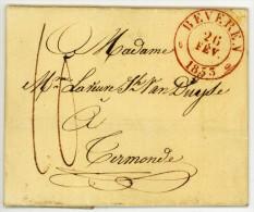 BEVEREN 26 FEV. 1833 NAAR TERMONDE - 1830-1849 (Belgica Independiente)