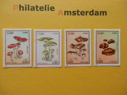 Algeria 1983, FLORA MUSHROOMS CHAMPIGNONS PILZE SETAS PADDESTOELEN: Mi 827-30, ** - Mushrooms