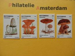 Botswana 1982, FLORA MUSHROOMS CHAMPIGNONS PILZE SETAS PADDESTOELEN: Mi 317-20, ** - Mushrooms