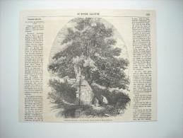 GRAVURE 1860. LEGENDE PICARDE. LA FONTAINE MIRACULEUSE DE SAINT-QUENTIN. AVEC EXPLICATIF. - Estampes & Gravures