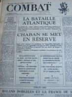 COMBAT N� 8941 du 24/03/73 : la bataille atlantique / Chaban en r�serve / manifestations lyc�ennes / repr�sentativit� de