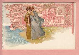 OLD 1900'S  POSTCARD ILLUSTRATED  1899 POSTCARD EXPO VENEZIA ITALIA ESPOSIZIONE CARTOLINE POSTALI