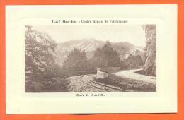 """Dpt  39  Ilay  """"  Route Du Grand Bec  """"  Carte En Creux - France"""