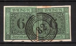 Baden, Nr. 3b (2 Mal), Lenzkirch, Mi. 120.- ++ , S148 - Baden