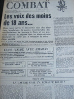 COMBAT N� 8940 du 23/03/73 : manifestations lyc�ennes / Panama / tribune de Jean Savard