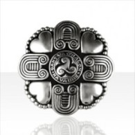 Elégante Broche Broach Argent Bretagne Triskell Kelt Silver