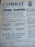 COMBAT N� 8939 du 22/03/73 : l� Europe �cartel�e / Loi Debr� & manifestation lyc�enne / Ulster / tribunes de G. Matzeff