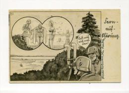 1940 3.Reich  illustrierte Humorkarte Fernaufkl�rung per Feldpost Innsbruck