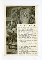 1941 3.Reich  Feldpostkarte illustrierte Liedkarte Gute Nacht Mutter per Feldpost gelaufen
