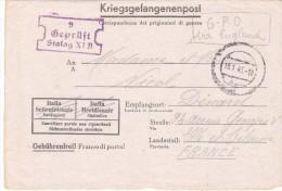 Prisonniers De Guerre 16-01 1945 STALAG XI B GPO VIA ENGLAND - Storia Postale