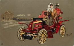 Themes Div-ref H753- Illustrateur F Bianco - Voiture Automobile  -theme Illustrateurs  - Carte Bon Etat - - Non Classificati