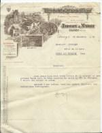 FACTURE - DISTILLERIE DU CHATEAU DE DUCEY - JARDIN & MABIT - DUCEY - France