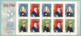 France, Harry Potter, Hermione Granger And Ron Weasley, 2007, MNH VF Booklet Of Ten - France
