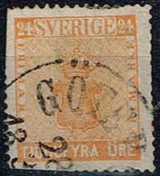Suède - 1858 - Y&T N° 9 Oblitéré, 2d Choix - Suède
