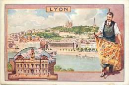 Themes Div-ref H747- Publicité Etablissements Bergougnan -caoutchouc -pneus -bandages -bandes -talons- Lyon -rhone - - Publicité