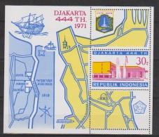 Indonesie Indonesia Blok Sheet Nr.700 (B18) MNH ; 444 Jarig Bestaan, Years Existence Of City Jakarta 1971 - Zonder Classificatie