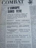 COMBAT N� 8966 du 19/04/73 : l' Europe sans t�te / Mesmer / tribune de Daniel Amson