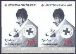 HR 1996-ZZ80 RED CROSS SOLIDARNOST, CROATIA-HRVATSKA, 2 X 1V INPERFORATED, MNH - Croatia