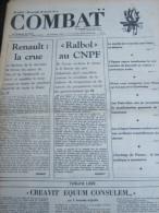 COMBAT N� 8962 du 18/04/73 : Renault d�cide de fermer les usines de Flins & Sandouville / CNPF / Tribune de Fonvieille