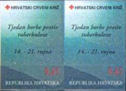HR 1996-ZZ87U RED CROSS T B C, CROATIA-HRVATSKA, 2 X 1v INPERFORATED, MNH - Croatia