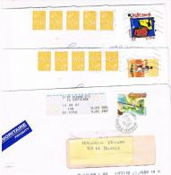 FRANCIA (FRANCE)- STORIA POSTALE - 2006.07 LOTTO DI 3 LETTERE X ITALIA (1 AFFRANCATURA MISTA CON AUTOMATICI)  - RIF.1198 - Storia Postale