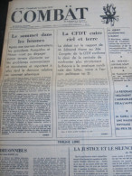 COMBAT N� 9002 du 01/06/73 : entretiens Nixon-Pompidou / CFDT entre ciel & terre / tribunes de Jean Daste - Daniel Amso